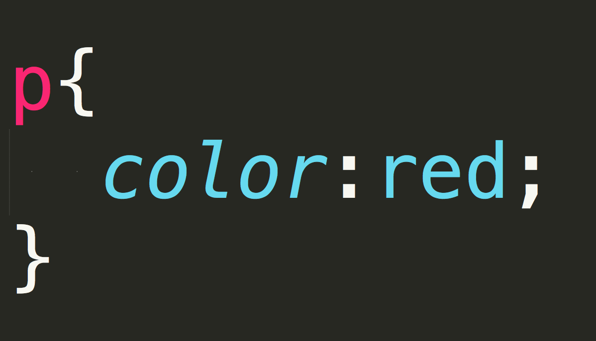 p{color:red;}